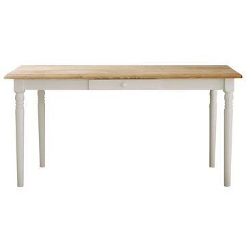 関家具 ■【mam】 ダイニングテーブル フィンネル ホワイト/ナチュラル 140cm【大型商品(設置工事可)】 138738