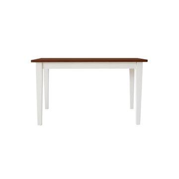 関家具 ■【mam】 ダイニングテーブル クレソン ホワイト/カフェ 135cm【大型商品(設置工事可)】 138747