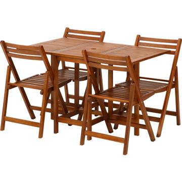 不二貿易 バタフライテーブルチェアー5点SET 85542