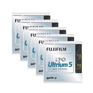 富士フイルム LTO5カートリッジ 1.5/3TB 5巻パック LTO FB UL-5 1.5T JX5