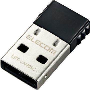 エレコム Bluetooth USBアダプタ/PC用/V4/CL1/ブラック LBT-UAN05C1