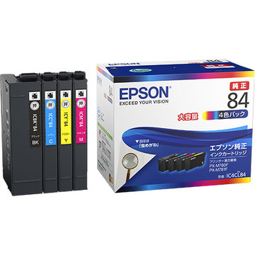EPSON ビジネスインクジェット用 大容量インク(4色パック) IC4CL84
