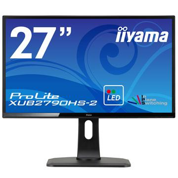 iiyama 27型ワイド液晶ディスプレイ XUB2790HS-2 ブラック XUB2790HS-B2