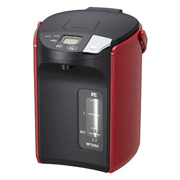 【期間限定 エントリーでP10倍】 タイガー魔法瓶 蒸気レスVE電気まほうびん 2.2L レッド PIP-A220R