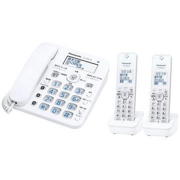 【期間限定 エントリーでP10倍】 パナソニック コードレス電話機(子機2台)(ホワイト) VE-GD36DW-W