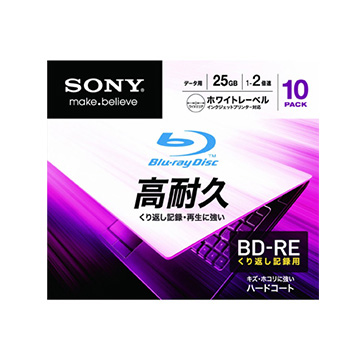 SONY データ用BD-RE 25GB 2倍速 プリンタブル 10枚P 10BNE1DCPS2