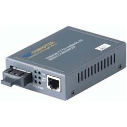 日本テレガートナー 安全 100Mbps メディアコンバータ MM CVT-100BTFC 2km SC 1310nm 訳あり