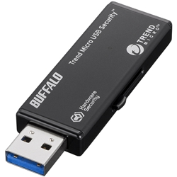 バッファロー HW暗号化 USB3.0メモリー ウイルススキャン5年 8GB RUF3-HSL8GTV5