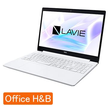 【エントリーでP10倍】 NEC (オフィス付)LAVIE Smart NS Corei3 8GB SSD256GB カームホワイト PC-SN212JFDF-D