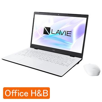 【エントリーでP10倍】 NEC (オフィス付) LAVIE Smart HM Corei7 8GB SSD512GB パールホワイト PC-SN186RAAG-F