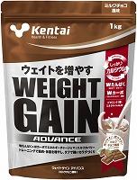 Kentaiケンタイ 送料無料 ウエイトゲイン メーカー直送 ※アウトレット品 アドバンスミルクチョコ風味1kg×6袋 まとめ買い
