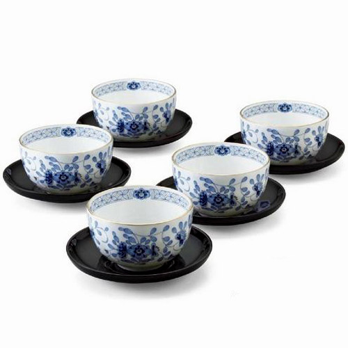 NARUMI (ナルミ) 日本製 ミラノ 茶托付き 湯呑5客セット 【ギフト 出産内祝 結婚内祝 結婚式引出物 快気祝 香典返し お返し 各種内祝 引出物 記念品】