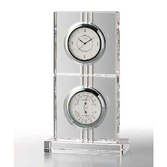 GLASS WORKS NARUMI (グラスワークスナルミ) エコロ サーモクロック 温度計・湿度計付き時計 【ギフト 出産内祝 結婚内祝 結婚式引出物 快気祝 各種内祝 引出物 景品】