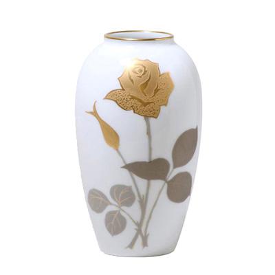 皇室御用達 大倉陶園 日本製 金蝕バラ 15m花瓶 【ギフト 出産内祝 結婚内祝 結婚式引出物 快気祝 法事引出物 香典返し お返し 各種内祝 引出物 景品】