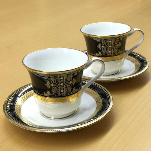 Noritake (ノリタケ) 日本製 イブニングマジェスティ アメリカン コーヒーカップ&ソーサーペア 【ギフト 出産内祝 結婚内祝 快気祝 お返し 各種内祝 引出物】