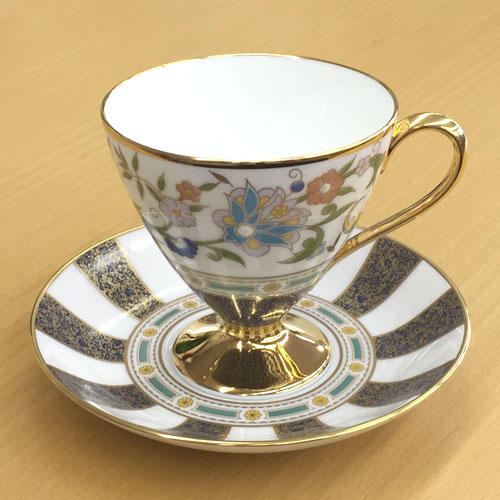 Noritake (ノリタケ) 日本製 シリル ティー・コーヒーカップ&ソーサー 【ギフト 出産内祝 結婚内祝 結婚式引出物 快気祝 法事引出物 香典返し お返し 各種内祝】