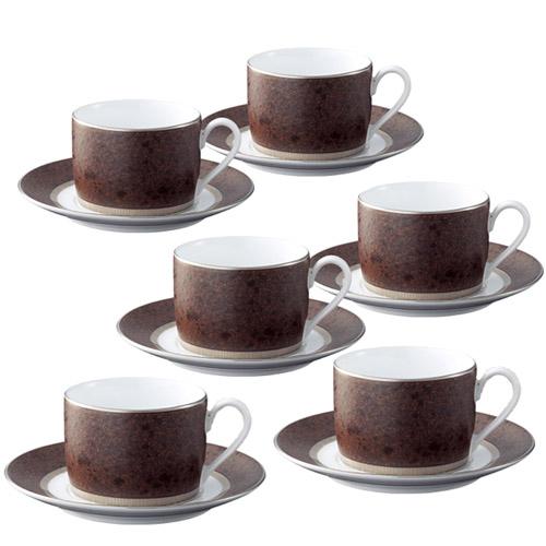 Noritake (ノリタケ) クリフ ティー・コーヒーカップ&ソーサー 6客セット 【ギフト 出産内祝 結婚内祝 結婚式引出物 お返し】