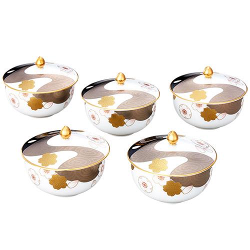 Noritake (ノリタケ) 日本製 あやみなも 汲出し湯呑 5客セット 【ギフト 出産内祝 結婚内祝 結婚式引出物 快気祝 法事引出物 香典返し お返し 各種内祝】