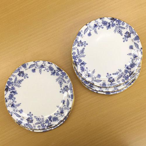 Noritake (ノリタケ) ブルーソレンティーノ 18.5cmケーキプレート 5枚セット 【ギフト 出産内祝 結婚内祝 結婚式引出物 快気祝 各種内祝 引出物 景品】