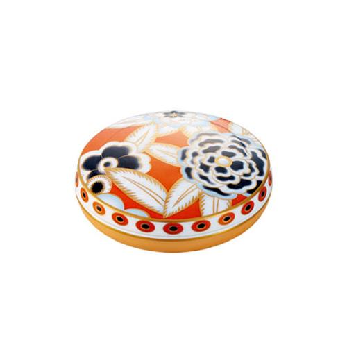 Noritake (ノリタケ) 日本製 オマージュコレクション デコフラワー 蓋物 【ギフト 結婚内祝 お返し 各種内祝 引出物】