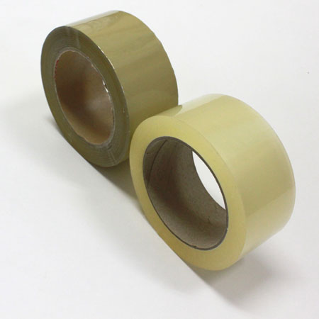 OPPテープ(透明と茶の2色から選べる) 42ミクロン 48mm巾x100m 150巻セット