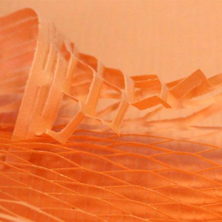 クッションペーパー カラー キャロット 2000枚セット包装資材/引越用品/引越資材/梱包用品/梱包資材/養生用品/ハニーペーパー