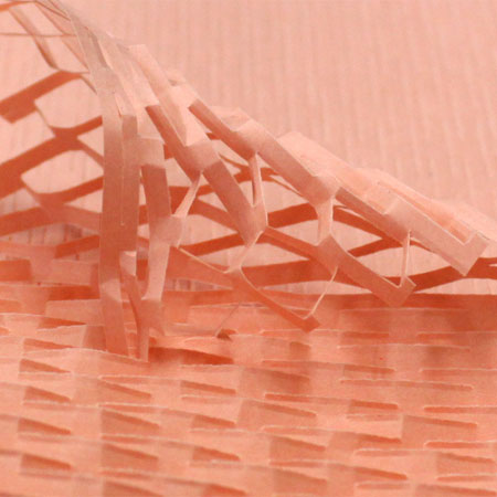 クッションペーパー カラー サーモン 2000枚セット包装資材/引越用品/引越資材/梱包用品/梱包資材/養生用品/ハニーペーパー