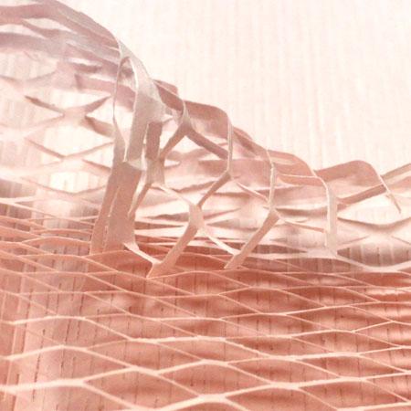 クッションペーパー カラー ピーチ 2000枚セット包装資材/引越用品/引越資材/梱包用品/梱包資材/養生用品/ハニーペーパー