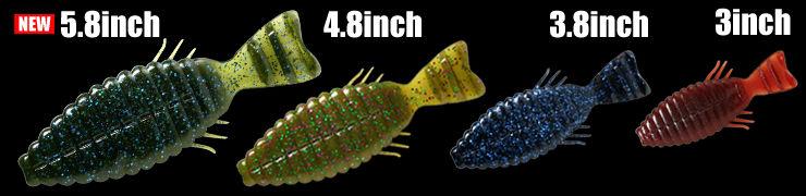 深度 vrhratt 5.8 英寸蠕虫 deps BULLFLAT 5.8 英寸蠕虫商店捕鱼设备捕鱼蠕虫引诱低音大翻车鱼背村淡水 (淡水)