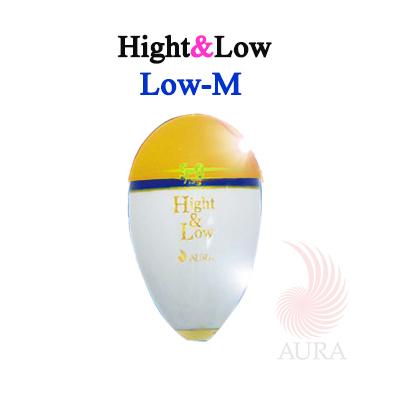 Low(低重心タイプ) 飛行時や入水時のブレがなく、安定性が抜群です。 アウラ ハイアンドロー Mサイズ Low(ロー) イエロー 低重心タイプ 中通しウキ AURA Hight&Low TYPE:Low SIZE:M yellow  釣り具 フィッシング ウキフカセ釣り 中通しウキ