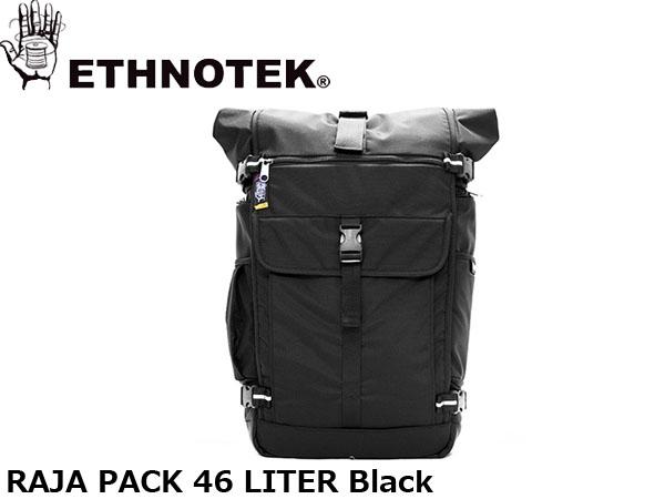 送料無料 エスノテック ETHNOTEK バックパック リュック Raja Pack 46 Ballistic Black ラージャ パック 46 バリスティックブラック カバン 鞄 ETH19730016001014