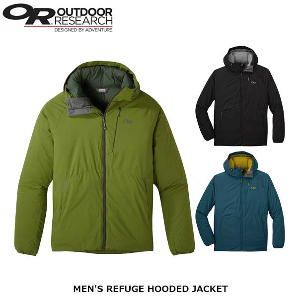 アウトドアリサーチ メンズ リフュージュフーデッドジャケット 防水性 防風性 軽量 アウトドア クライミング ハイキング OUTDOOR RESEARCH OR19842302 国内正規品