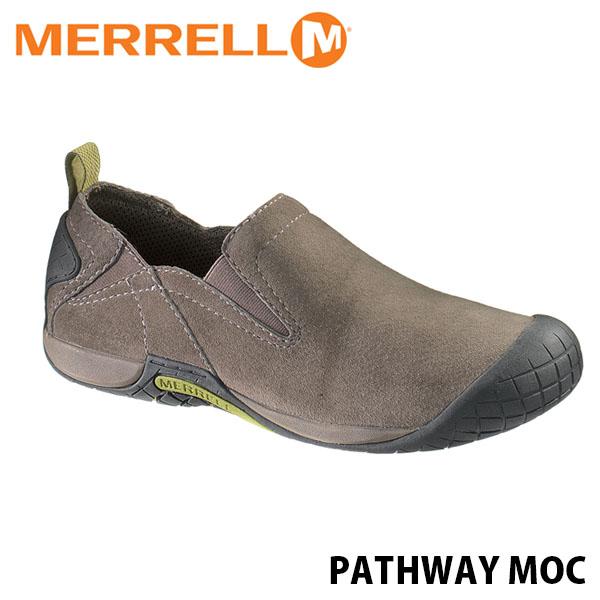 送料無料 メレル パスウェイ モック メンズ ボールダー アウトドア ウォーキング 登山 レザー スリッポン スニーカー シューズ 靴 男性用 MERRELL PATHWAY MOC BOULDER 66329 MERM66329