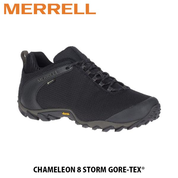 送料無料 メレル MERRELL メンズ ハイキングシューズ カメレオン 8 ストーム ゴアテックス ブラック ゴアテックス 防水透湿 アウトドア CHAMELEON 8 STORM GORE-TEX BLACK 33103 MERM033103