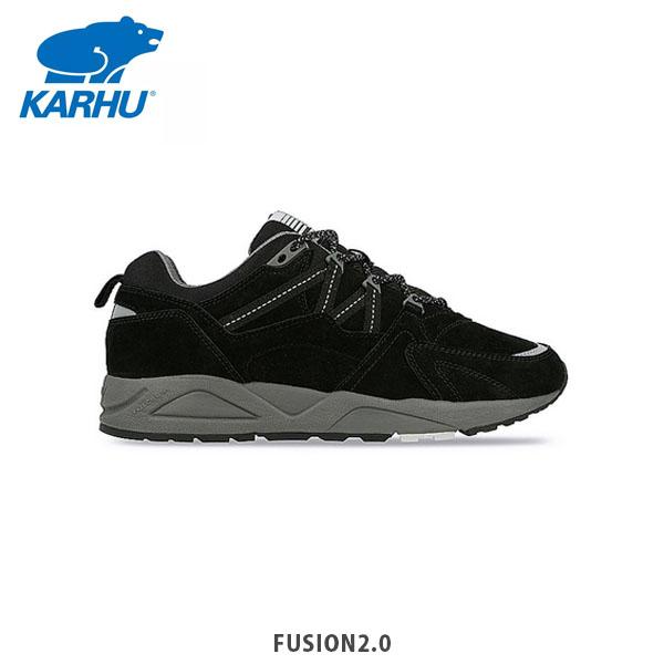 2020年秋冬 靴 送料無料 KARHU カルフ フュージョン2.0 ブラック 国内在庫 ユニセックス レディース KH804018 永遠の定番モデル おしゃれ スニーカー シューズ メンズ