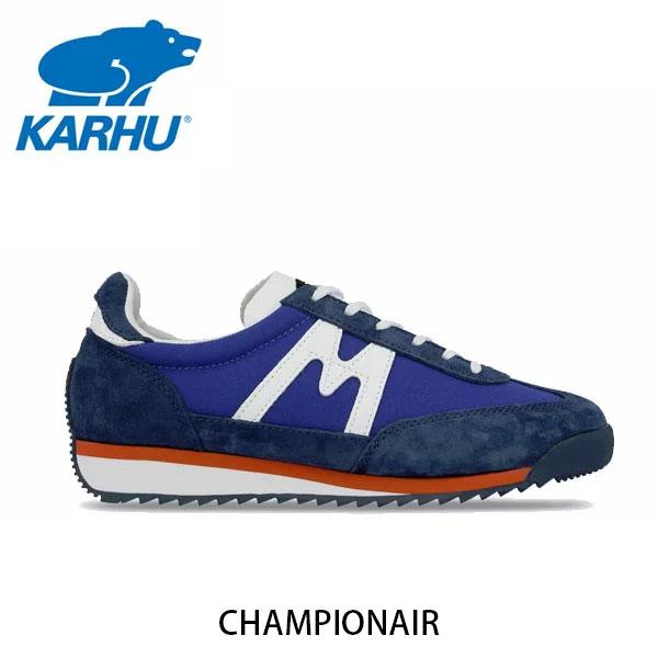 送料無料 KARHU カルフ メンズ レディース スニーカー チャンピオンエア CHAMPIONAIR スウェード×ナイロン クラシックブルー×ホワイト ローカット 定番 フィンランド 北欧 KH805002