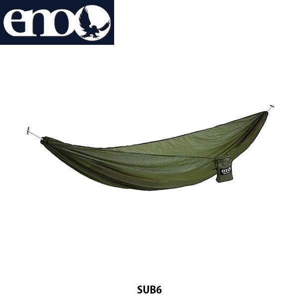 送料無料 eno イノー ハンモック サブ6 SUB 6 軽量 コンパクト アウトドア キャンプ キャンプ道具 アウトドア寝具 LICHEN 811201017342 LH6056 ENO018