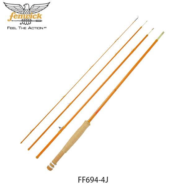 送料無料 フェンウィック fenwick フライロッド 釣り竿 フェンウィックイエローグラスIII FF694-4J Lime Sulfur フィッシング 017300340694 FEN4930843971785