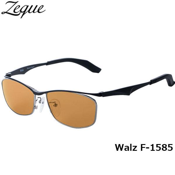ジールオプティクス ZEAL OPTICS 偏光サングラス Walz ワルツ F-1585 ブラック ラスターオレンジ グレンフィールド GLE4580274165682 釣り フィッシング アウトドア メンズ レディース 偏光グラス 偏光レンズ