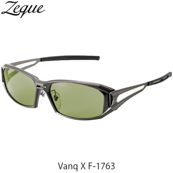 送料無料 ジールオプティクス 偏光サングラス ヴァンク エックス VanqX F-1763 ガンメタル イーズグリーン 釣り フィッシング アウトドア 偏光グラス 偏光レンズ ZEAL OPTICS GLE4580274167419