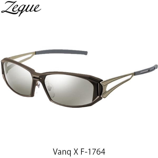 送料無料 Zeque ゼクー ジールオプティクス 偏光サングラス ヴァンク エックス VanqX F-1764 ブラウン×ゴールド トゥルービュースポーツ×シルバーミラー 釣り フィッシング アウトドア 偏光グラス 偏光レンズ ZEAL OPTICS GLE4580274167426