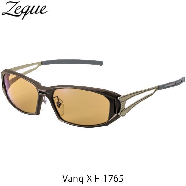 送料無料 ジールオプティクス 偏光サングラス ヴァンク エックス VanqX F-1765 ブラウン×ゴールド ラスターオレンジ 釣り フィッシング アウトドア 偏光グラス 偏光レンズ ZEAL OPTICS GLE4580274167433