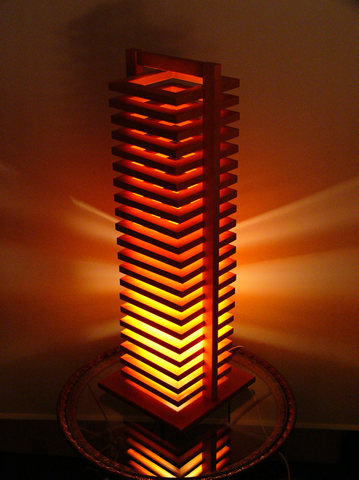 FlamesHIKIDASHI(引き出し)◇木製可動フロアスタンド【インテリア照明】:送料無料