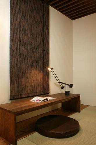 バンブースクリーン:カスリ88x135cm:送料無料 和風アジアン ロールアップスクリーン 竹