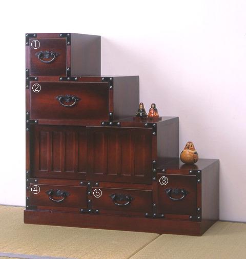 Folk Japanese Style Furniture Wardrobe Right Under The Stairs Rising::::::  Japanese Style Furniture Chests Cabinets Drawers
