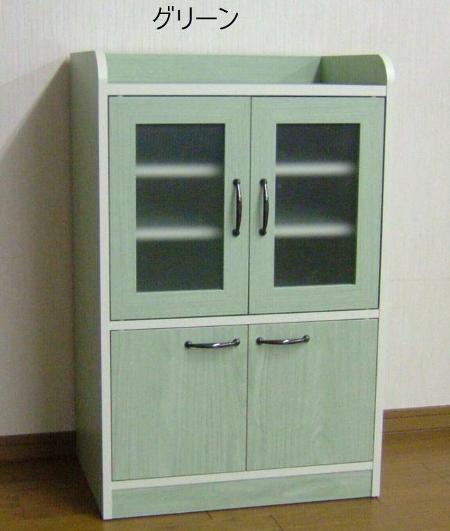 コンパクトミニキッチン食器棚B日本製