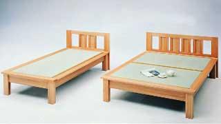 【送料無料・日本製】天然素材でしっかり仕上げた畳ベッド・ダブルベッド ベット