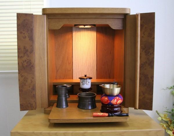日本一の仏壇出荷数を誇る静岡の仏壇 静岡産コンパクト仏壇 火立 茶湯器 香炉 りん 花立 上質 仏飯器 りん棒セット 舗