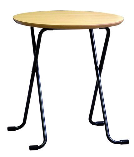 折りたたみフリーテーブル丸:ナチュラル680:送料無料