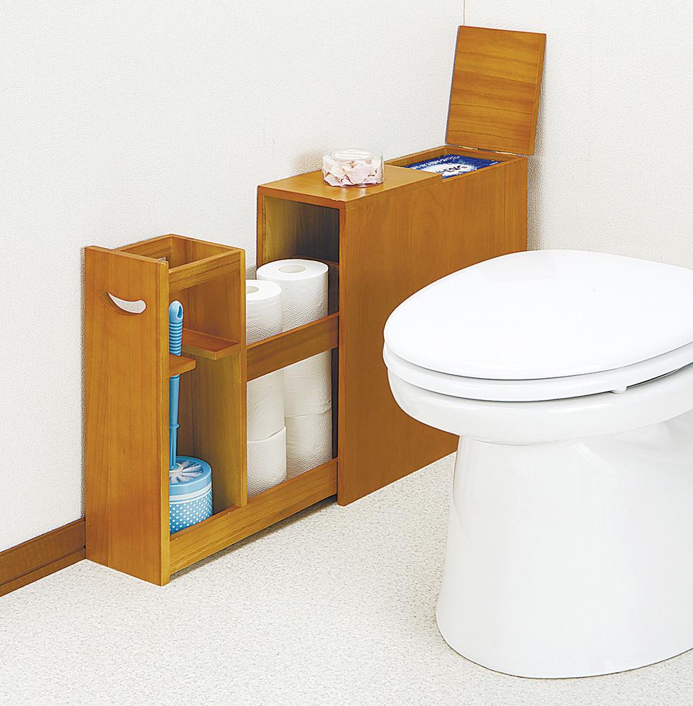 薄型スライドトイレラックトイレ収納効率アップ